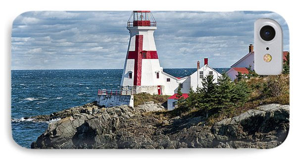 East Quoddy Lighthouse Phone Case by John Greim
