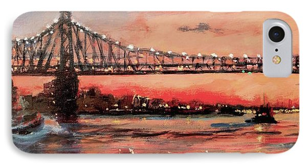 East River Tugboats Phone Case by Peter Salwen