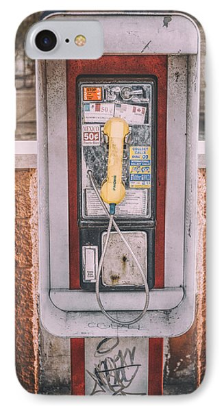East Side Pay Phone IPhone Case by Scott Norris