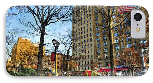 East Village 2nd Avenue And 10th Street At Christmas IPhone Case by Randy Aveille