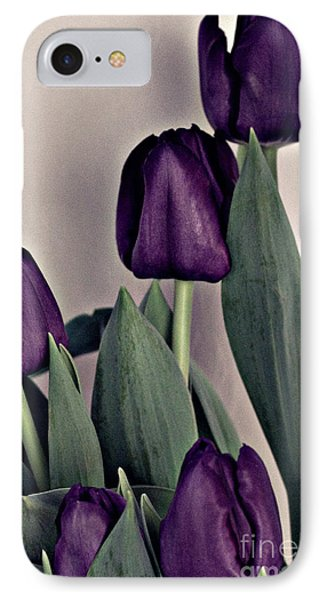 A Display Of Tulips IPhone Case by Sherry Hallemeier