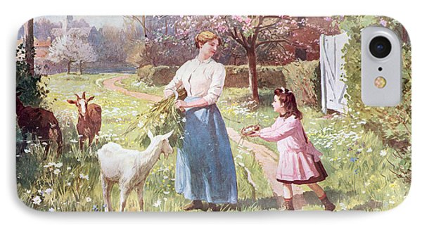 Easter Eggs In The Country IPhone 7 Case by Victor Gabriel Gilbert
