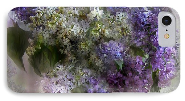 Easter Lilacs IPhone Case by Carol Cavalaris