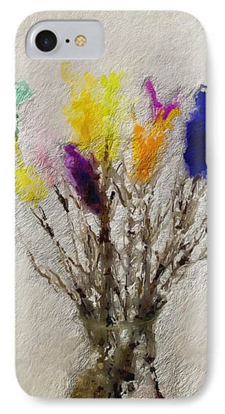 Easter Tree- Abstract Art By Linda Woods IPhone Case