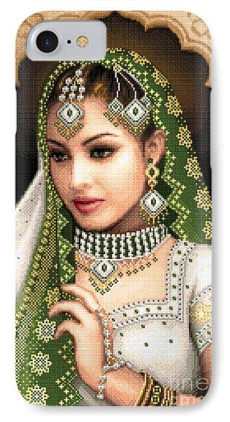 Eastern Beauty In Green Phone Case by Stoyanka Ivanova