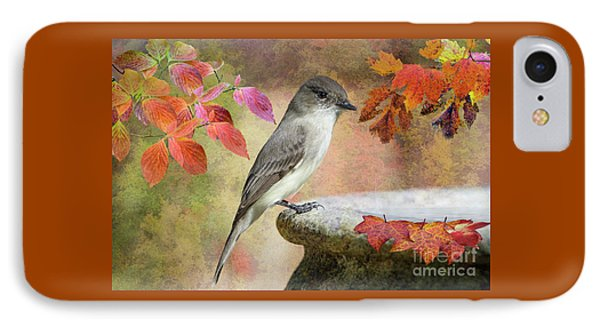 IPhone Case featuring the photograph Eastern Phoebe In Autumn by Bonnie Barry