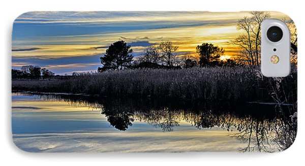 Eastern Shore Sunset - Blackwater National Wildlife Refuge - Maryland IPhone Case by Brendan Reals