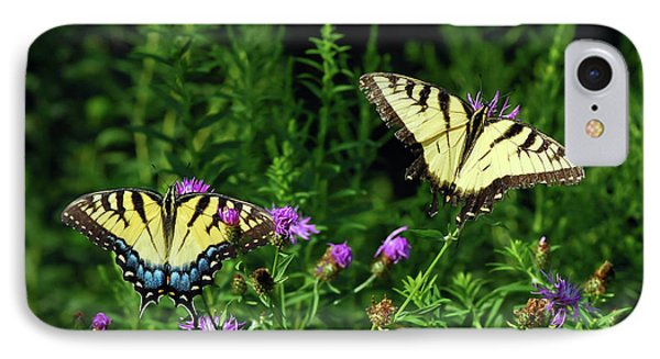 IPhone Case featuring the photograph Eastern Tiger Swallowtail Butterfly - Female And Male  by Kerri Farley