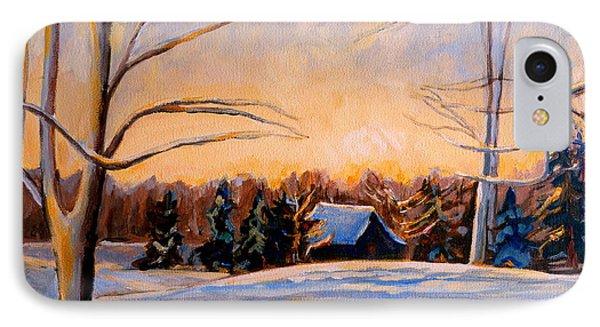 Eastern Townships In Winter Phone Case by Carole Spandau
