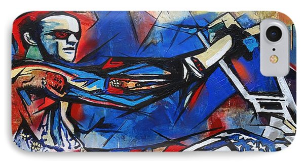 IPhone Case featuring the painting Easy Rider Captain America by Eric Dee