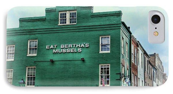 Eat Berthas Mussels  IPhone Case by Paul Ward