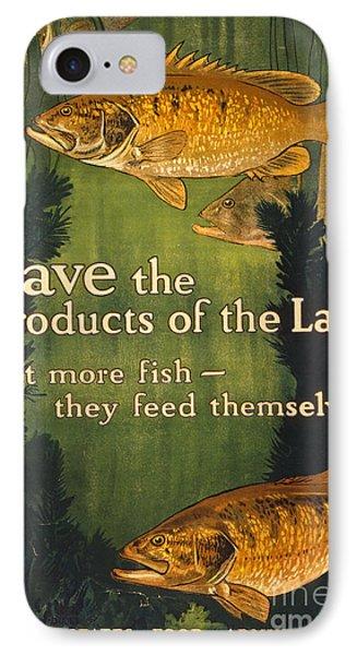 Eat More Fish Vintage World War I Poster IPhone Case by John Stephens