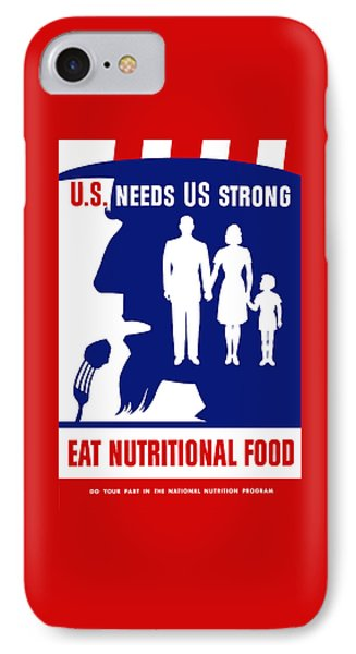 Uncle Sam - Eat Nutritional Food IPhone Case