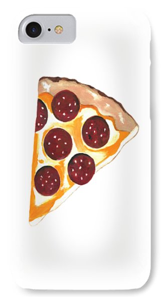 IPhone Case featuring the mixed media Eat Pizza by Kathleen Sartoris