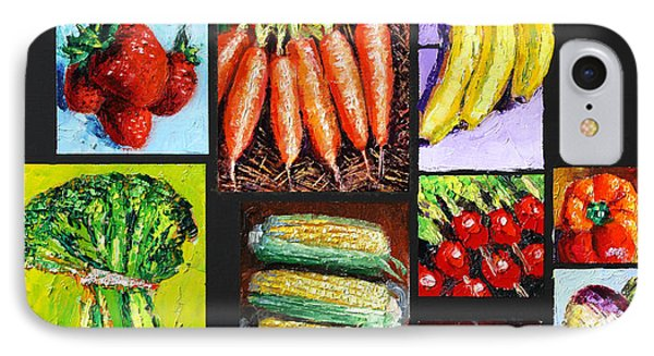 Eat Your Vegies And Fruit Phone Case by John Lautermilch