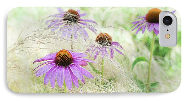 Echinacea In The Grass IPhone Case by Tim Gainey