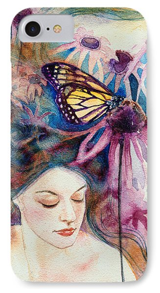IPhone Case featuring the painting Echinacea by Ragen Mendenhall