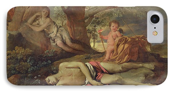 Echo And Narcissus  Phone Case by Nicolas Poussin