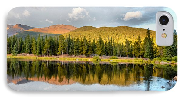 Echo Lake Painterly 1 IPhone Case by Angelina Vick