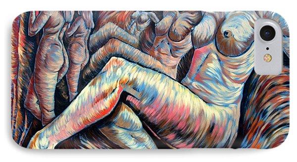Echo Of A Nude Gesture II Phone Case by Darwin Leon