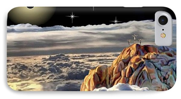 Eclipes At Cavary IPhone Case by Ron Chambers