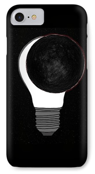 IPhone Case featuring the drawing Eclipse by John Haldane