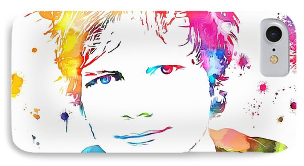 Ed Sheeran Paint Splatter IPhone Case by Dan Sproul
