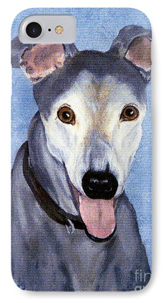 IPhone Case featuring the painting Eddie - Greyhound by Terri Mills