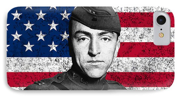 Eddie Rickenbacker And The American Flag Phone Case by War Is Hell Store