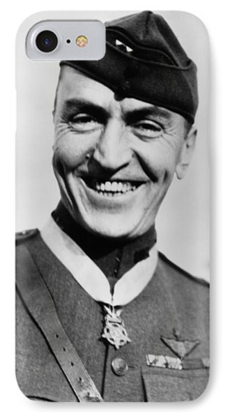 Eddie Rickenbacker Wearing The Medal Of Honor  IPhone Case by War Is Hell Store
