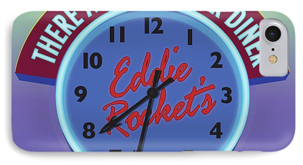 Eddie Rocket Clock IPhone Case by Greg Joens