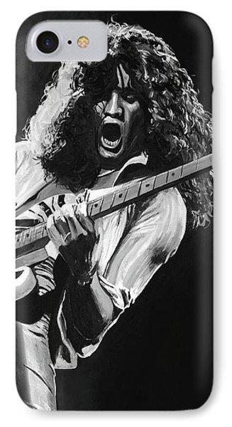 Van Halen iPhone 7 Case - Eddie Van Halen - Black And White by Tom Carlton