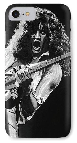 Eddie Van Halen - Black And White IPhone 7 Case by Tom Carlton