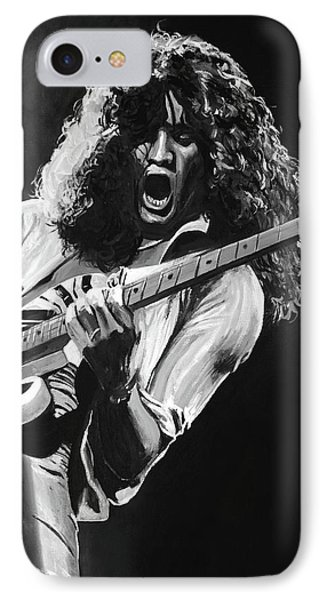 Eddie Van Halen - Black And White IPhone Case