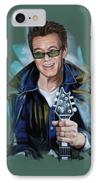 Eddie Van Halen IPhone 7 Case by Melanie D