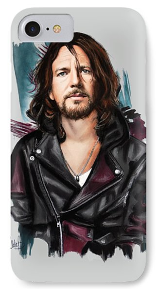 Eddie Vedder IPhone 7 Case by Melanie D