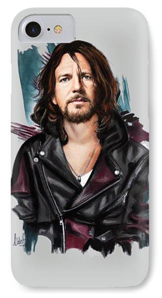 Eddie Vedder IPhone Case by Melanie D