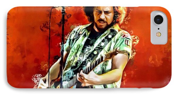 Pearl Jam iPhone 7 Case - Eddie Vedder Of Pearl Jam by Scott Wallace