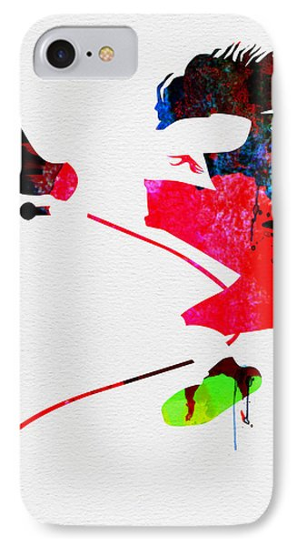 Eddie Watercolor IPhone Case by Naxart Studio