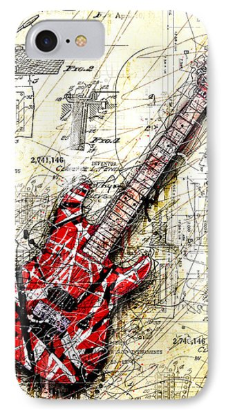 Eddie's Guitar 3 IPhone 7 Case by Gary Bodnar