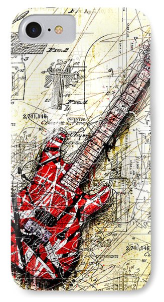 Eddie's Guitar 3 IPhone Case by Gary Bodnar