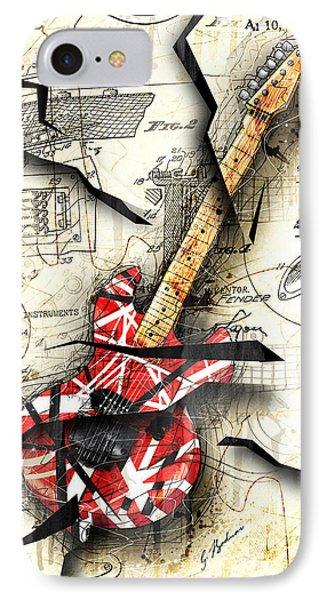 Van Halen iPhone 7 Case - Eddie's Guitar by Gary Bodnar
