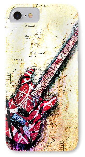 Van Halen iPhone 7 Case - Eddie's Guitar Variation 07 by Gary Bodnar