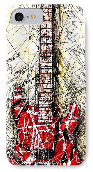 Eddie's Guitar Vert 1a IPhone 7 Case by Gary Bodnar