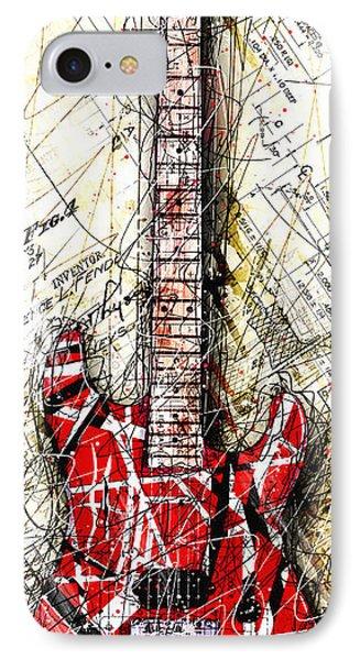 Van Halen iPhone 7 Case - Eddie's Guitar Vert 1a by Gary Bodnar