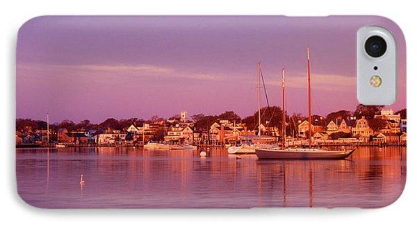 Edgartown Harbor IPhone Case by John Burk