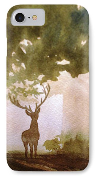 Edge Of The Forrest IPhone Case by Marilyn Jacobson
