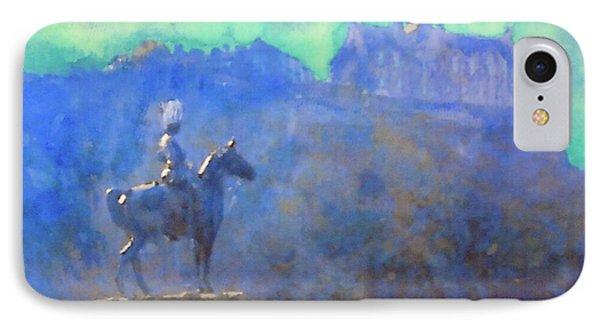 Edinburgh Castle Horse Statue IPhone Case
