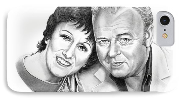 Edith And Archie Bunker Phone Case by Murphy Elliott