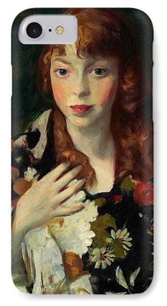 Edna Smith In A Japanese Wrap IPhone Case by Robert Henri